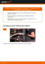 Pakeisti Rėmas, stabilizatoriaus tvirtinimas TOYOTA YARIS: instrukcija