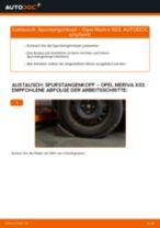OPEL MERIVA Getriebehalter: Online-Handbuch zum Selbstwechsel