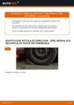 Cómo cambiar: rótula de dirección - Opel Meriva X03 | Guía de sustitución