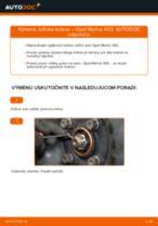 Vymeniť Lozisko kolesa OPEL MERIVA: zadarmo pdf