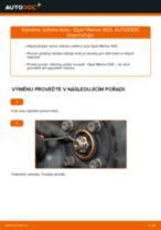 Jak vyměnit přední ložisko kola na Opel Meriva X03 – návod k výměně