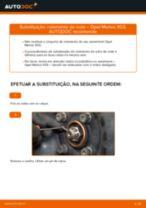 Como mudar rolamento da roda da parte dianteira em Opel Meriva X03 - guia de substituição