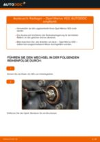Auswechseln von Axialgelenk Spurstange Anleitung PDF für OPEL MERIVA