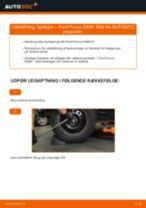 Udskift hjullejer bag - Ford Focus DAW | Brugeranvisning