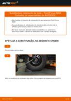 Como mudar rolamento da roda da parte traseira em Ford Focus DAW - guia de substituição
