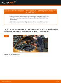Wie der Wechsel durchführt wird: Thermostat 1.4 HDi Peugeot 207 WA tauschen