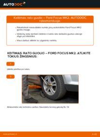 Kaip atlikti keitimą: 1.6 TDCi Ford Focus mk2 Sedanas Rato guolis