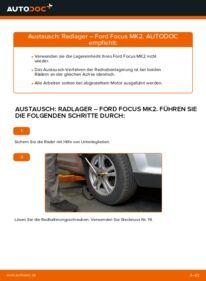 Wie der Wechsel durchführt wird: Radlager 1.6 TDCi Ford Focus mk2 Limousine tauschen