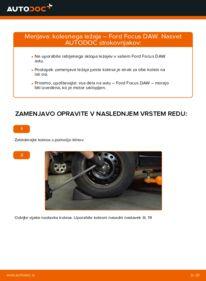 Kako izvesti menjavo: Kolesni lezaj na 1.6 16V Ford Focus DAW