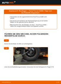 Wie der Wechsel durchführt wird: Radlager 1.6 16V Ford Focus Mk1 tauschen