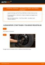 Slik bytter du hjullager fremme på en Ford Focus DAW – veiledning