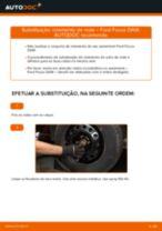 Como mudar rolamento da roda da parte dianteira em Ford Focus DAW - guia de substituição
