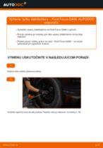 Ako vymeniť predné tyčky stabilizátora na Ford Focus DAW – návod na výmenu