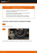 Como mudar molas de suspensão da parte traseira em Ford Focus DAW - guia de substituição