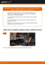 Comment changer : disques de frein arrière sur Ford Focus DAW - Guide de remplacement