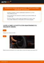 Cómo cambiar: bieletas de suspensión de la parte delantera - Ford Focus DAW | Guía de sustitución