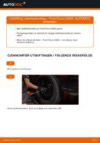 Slik bytter du stabilisatorstag fremme på en Ford Focus DAW – veiledning