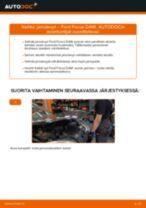 Kuinka vaihtaa ja säätää Kallistuksenvakaajan kumit FORD FOCUS: pdf-opas