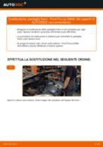 Come cambiare pastiglie freno della parte posteriore su Ford Focus DAW - Guida alla sostituzione