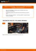 PDF guide för byta: Bromsklossar FORD FOCUS (DAW, DBW) bak och fram