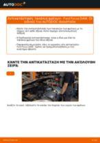 Πώς να αλλάξετε τακάκια φρένων πίσω σε Ford Focus DAW - Οδηγίες αντικατάστασης