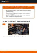 Hátsó fékbetétek-csere Ford Focus DAW gépkocsin – Útmutató