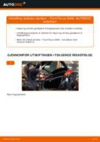 Slik bytter du bakluke demper på en Ford Focus DAW – veiledning