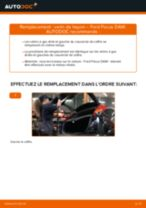 Comment changer : verin de hayon sur Ford Focus DAW - Guide de remplacement