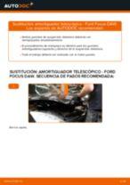 Cómo cambiar: amortiguador telescópico de la parte delantera - Ford Focus DAW | Guía de sustitución
