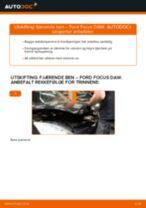 Slik bytter du fjærende ben fremme på en Ford Focus DAW – veiledning