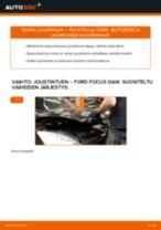 Kuinka vaihtaa joustintuki eteen Ford Focus DAW-autoon – vaihto-ohje