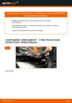 Kuidas vahetada Ford Focus DAW esi-vedruamort – õpetus