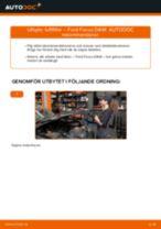 Montering Luftfilter FORD FOCUS (DAW, DBW) - steg-för-steg-guide