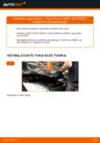 Kaip pakeisti Ford Focus DAW spyruoklės: priekis - keitimo instrukcija