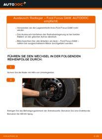Wie der Wechsel durchführt wird: Radlager 1.6 16V Ford Focus DAW tauschen