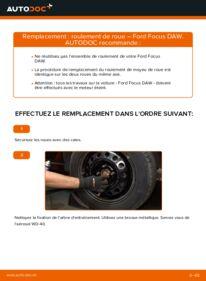 Comment effectuer un remplacement de Roulement De Roues sur 1.6 16V Ford Focus DAW