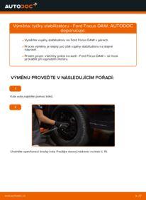 Jak provést výměnu: Zkrutna tyc na 1.6 16V Ford Focus DAW