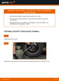 Kaip atlikti keitimą: 1.6 16V Ford Focus DAW Spyruoklės