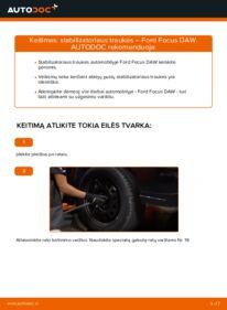 Kaip atlikti keitimą: 1.6 16V Ford Focus DAW Pasukimo trauklė
