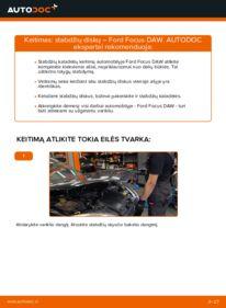 Kaip atlikti keitimą: 1.6 16V Ford Focus DAW Stabdžių diskas