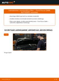 Kuidas välja vahetamist läbi viia: 1.6 16V Ford Focus DAW Õlifilter