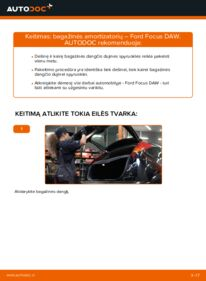 Kaip atlikti keitimą: 1.6 16V Ford Focus DAW Bagazines Amortizatorius