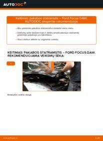 Kaip atlikti keitimą: 1.6 16V Ford Focus DAW Amortizatorius