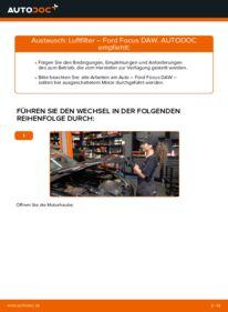 Wie der Wechsel durchführt wird: Luftfilter 1.6 16V Ford Focus DAW tauschen