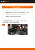 Byta bromsskivor fram på Ford Focus DAW – utbytesguide