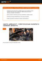 Kuinka vaihtaa jarrulevyt eteen Ford Focus DAW-autoon – vaihto-ohje