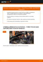 Ako vymeniť predné brzdové kotúče na Ford Focus DAW – návod na výmenu