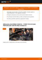 Kako zamenjati avtodel zavorni diski spredaj na avtu Ford Focus DAW – vodnik menjave
