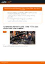 Kuidas vahetada Ford Focus DAW esi-piduriketaste – õpetus