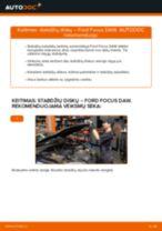FORD FOCUS Rėmas, stabilizatoriaus tvirtinimas keitimas: nemokamas pdf